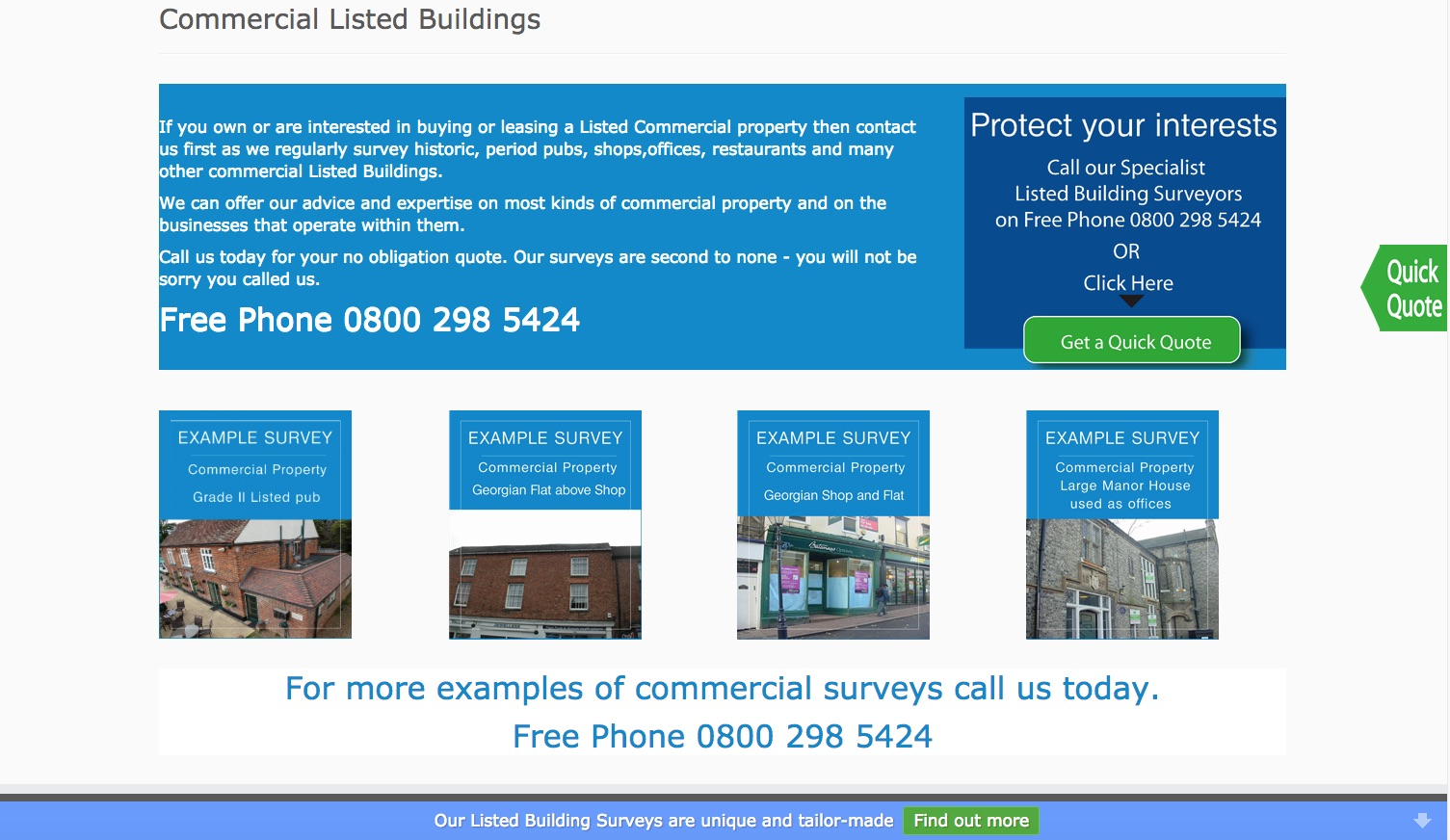 Commercial Listed Buildings