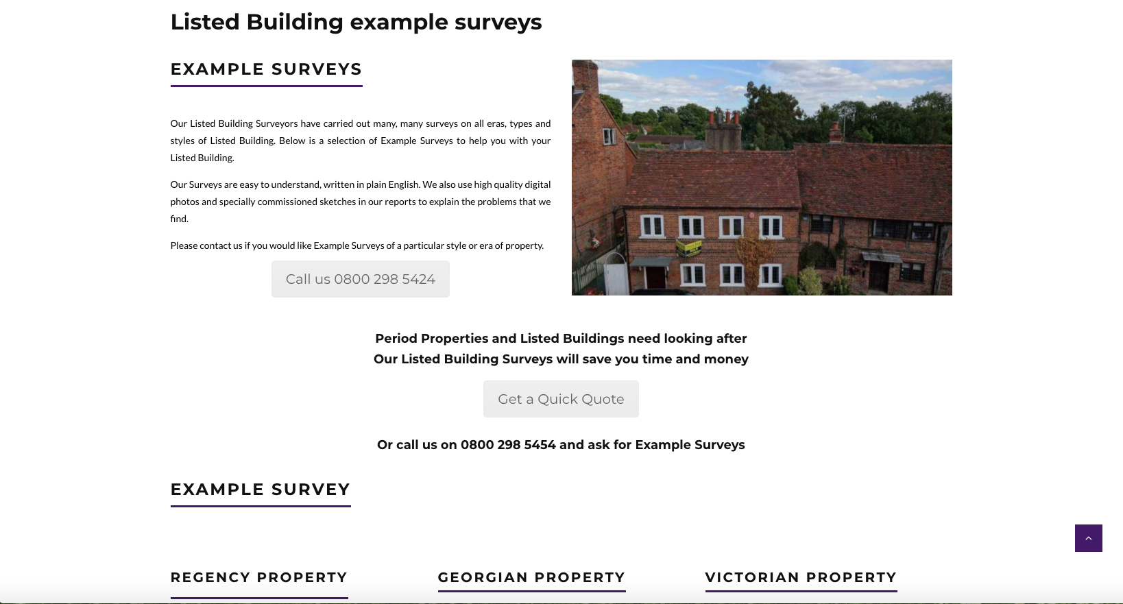 Listed Building Example Surveys